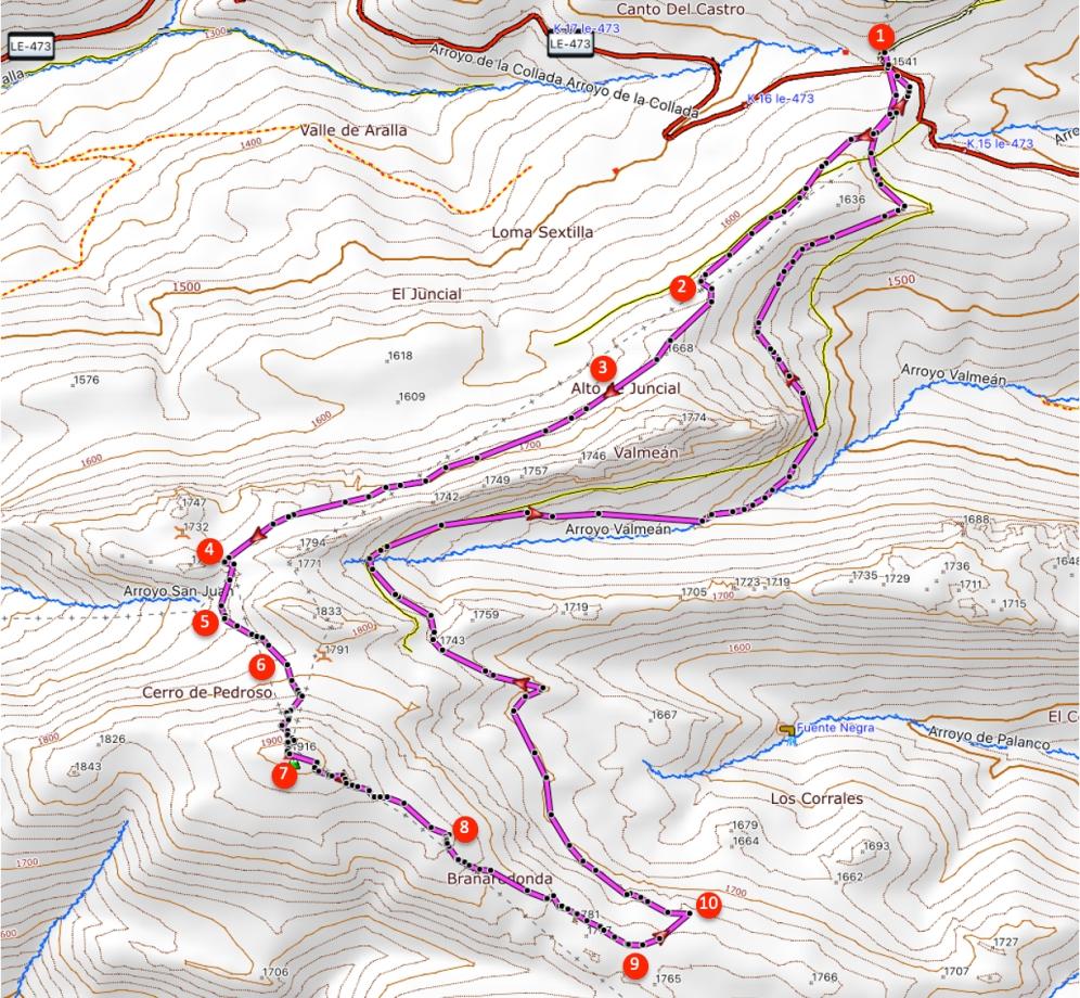 Route Cerro Pedroso