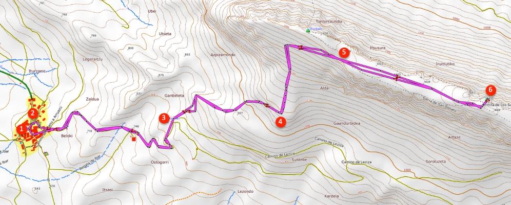 Route Beriain