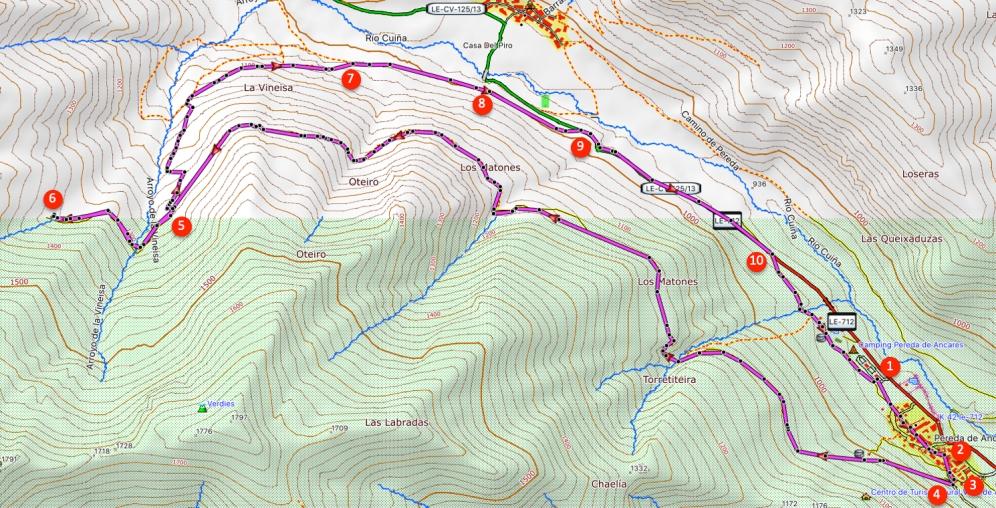 Route Braña de Pereda