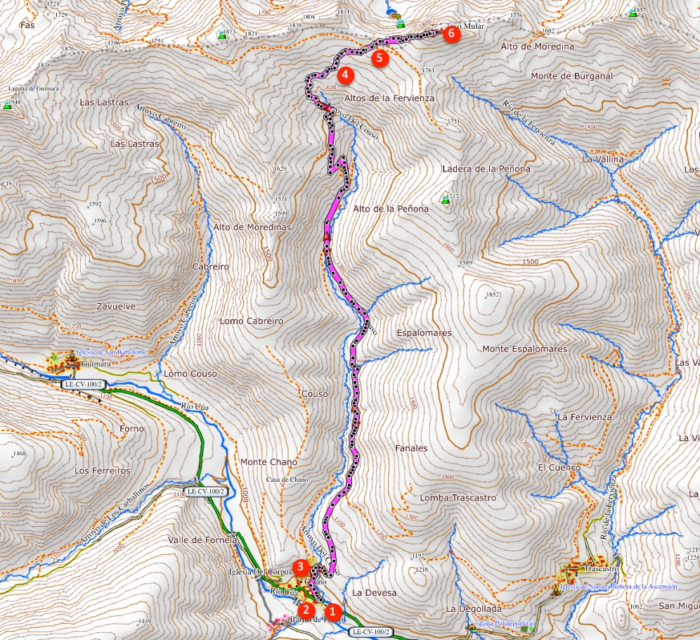 Route Teso Mular