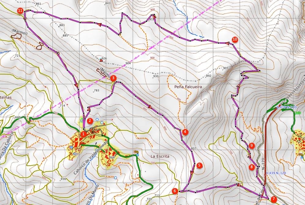 Route Serra da Enciña da Lastra