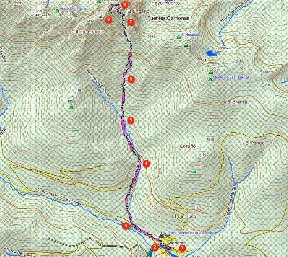 Route Curavacas