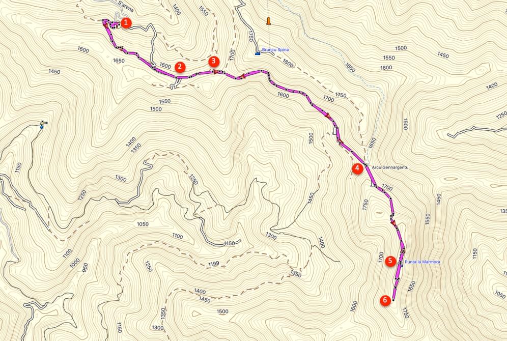 Route Punta la Marmora