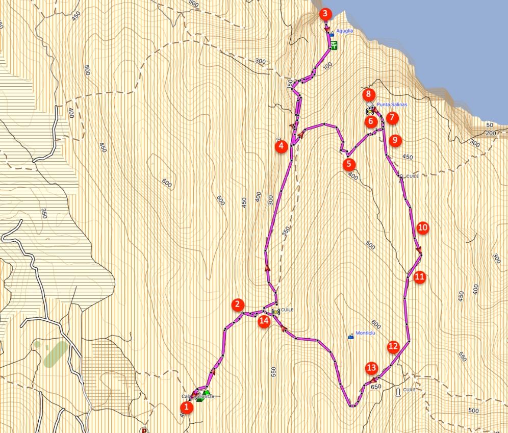 Route Punta Salinas