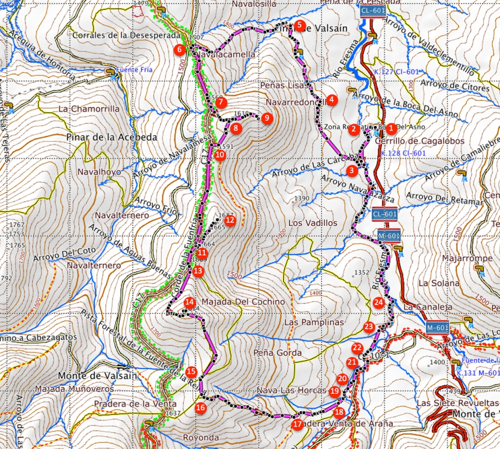 Route Cerro de la Camorca