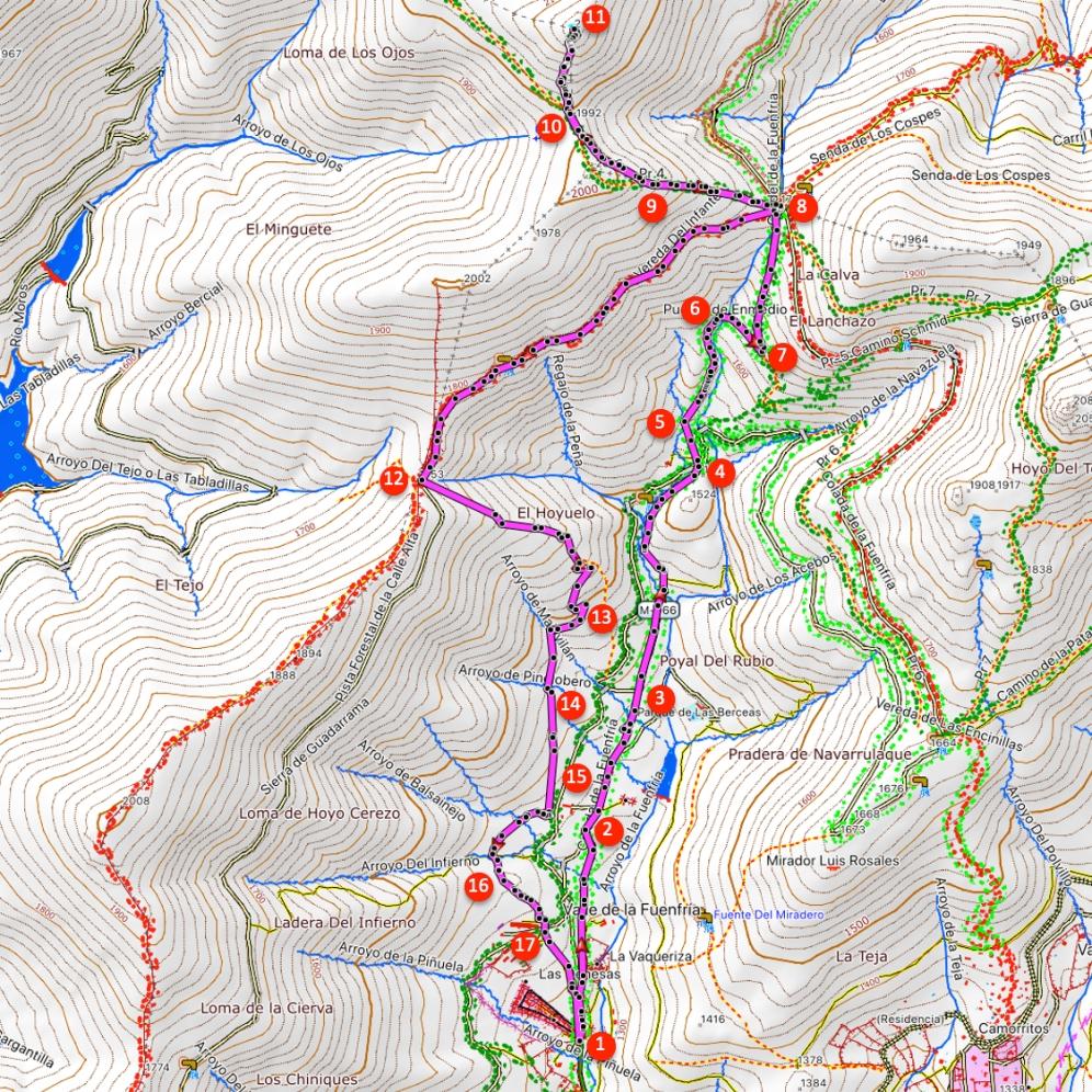 Route Montón de Trigo über Collado de Marichiva