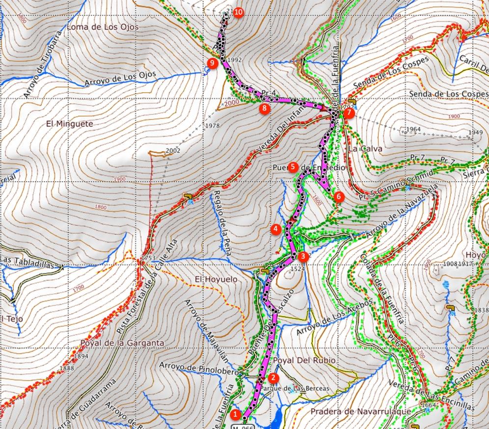 Route Montón de Trigo