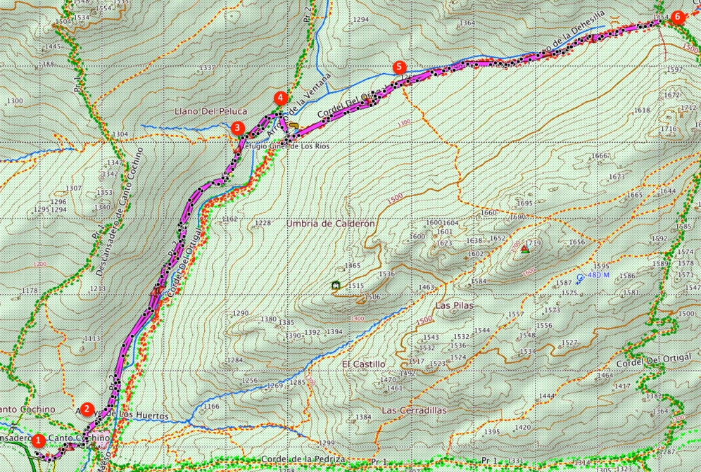 Route The Col of the Dehesilla