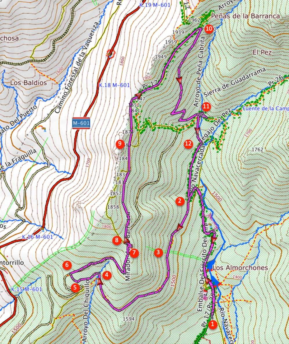 Route Peña del Horcón