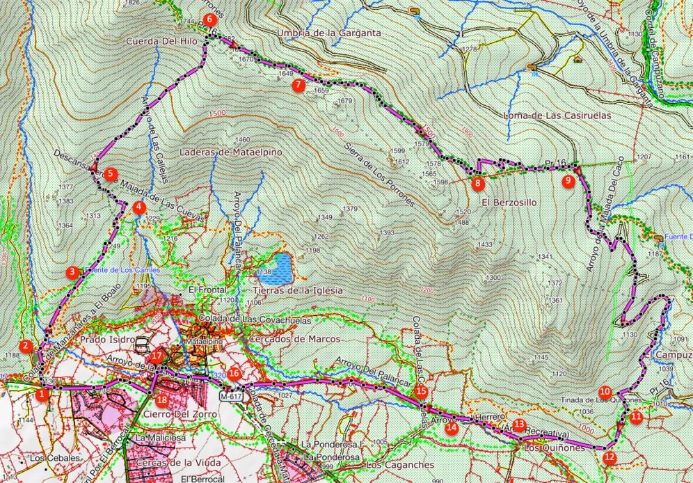 Route Sierra de los Porrones