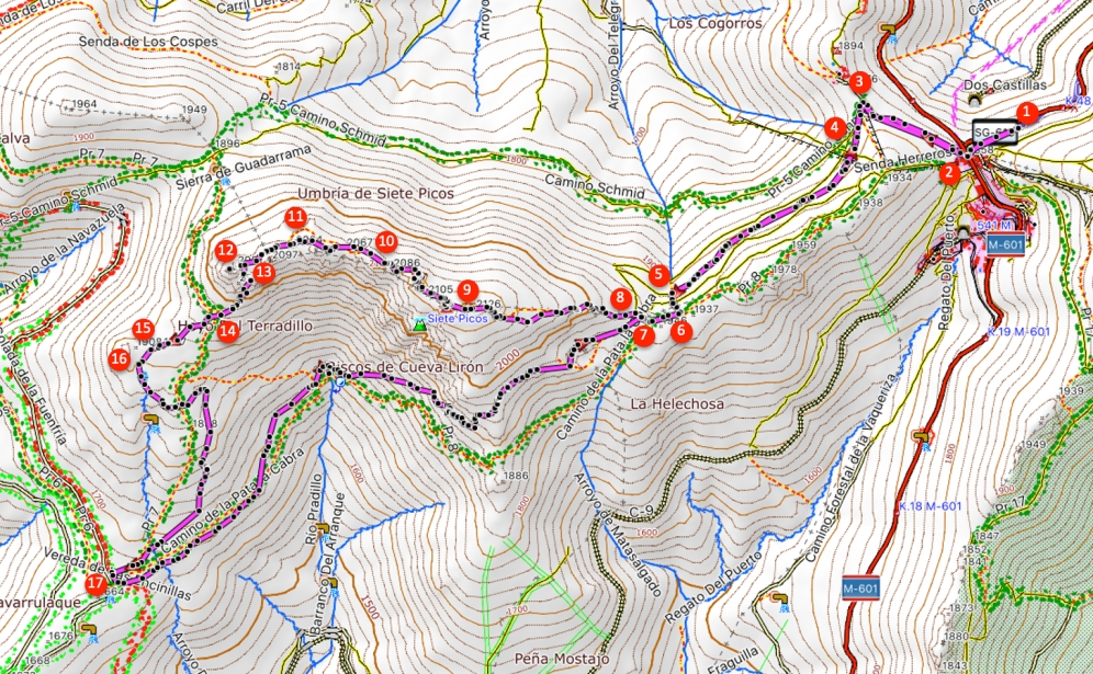 Route Siete Picos
