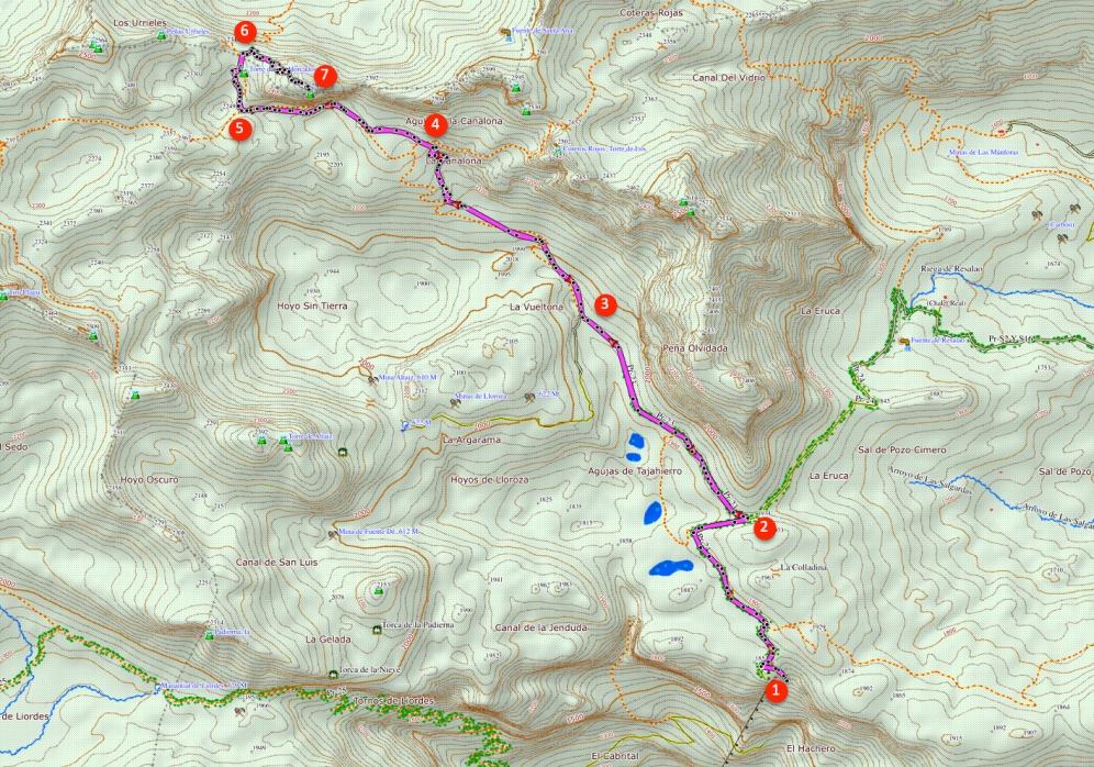 Route Torre de los Horcados Rojos