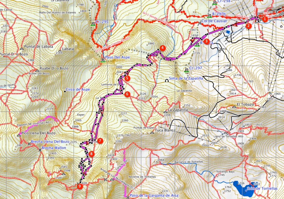 Route Brecha de Aspe