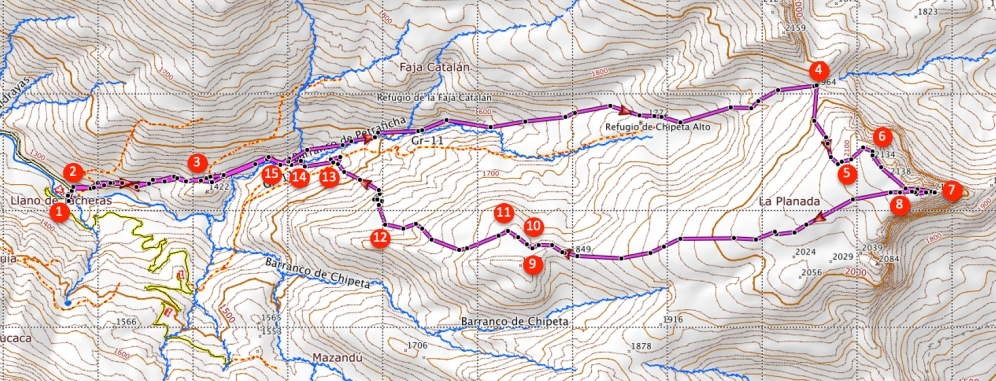 Route Chipeta Alto