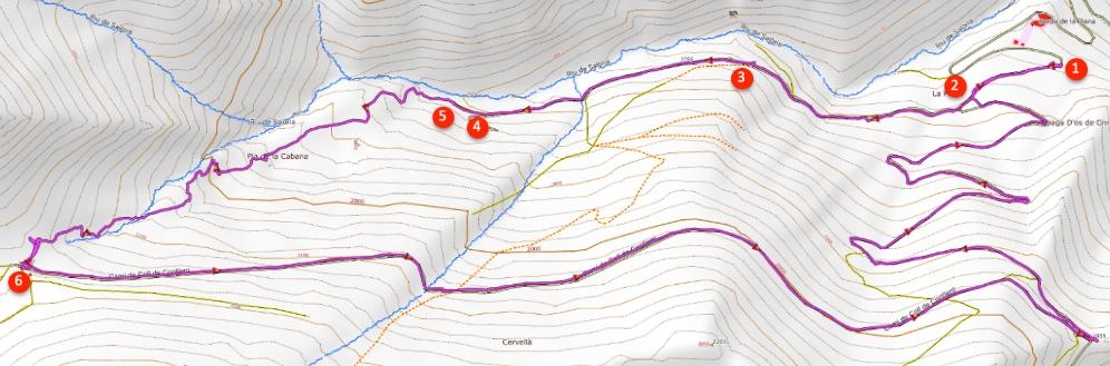 Route Coll de Conflent