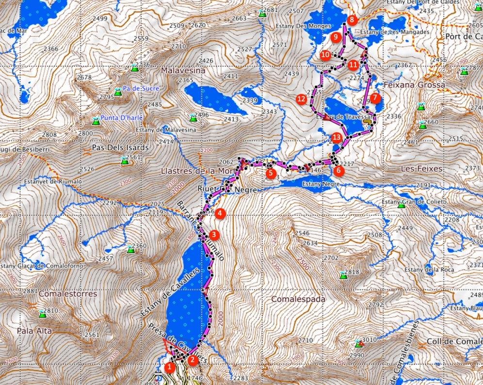 Route Estany de Monges