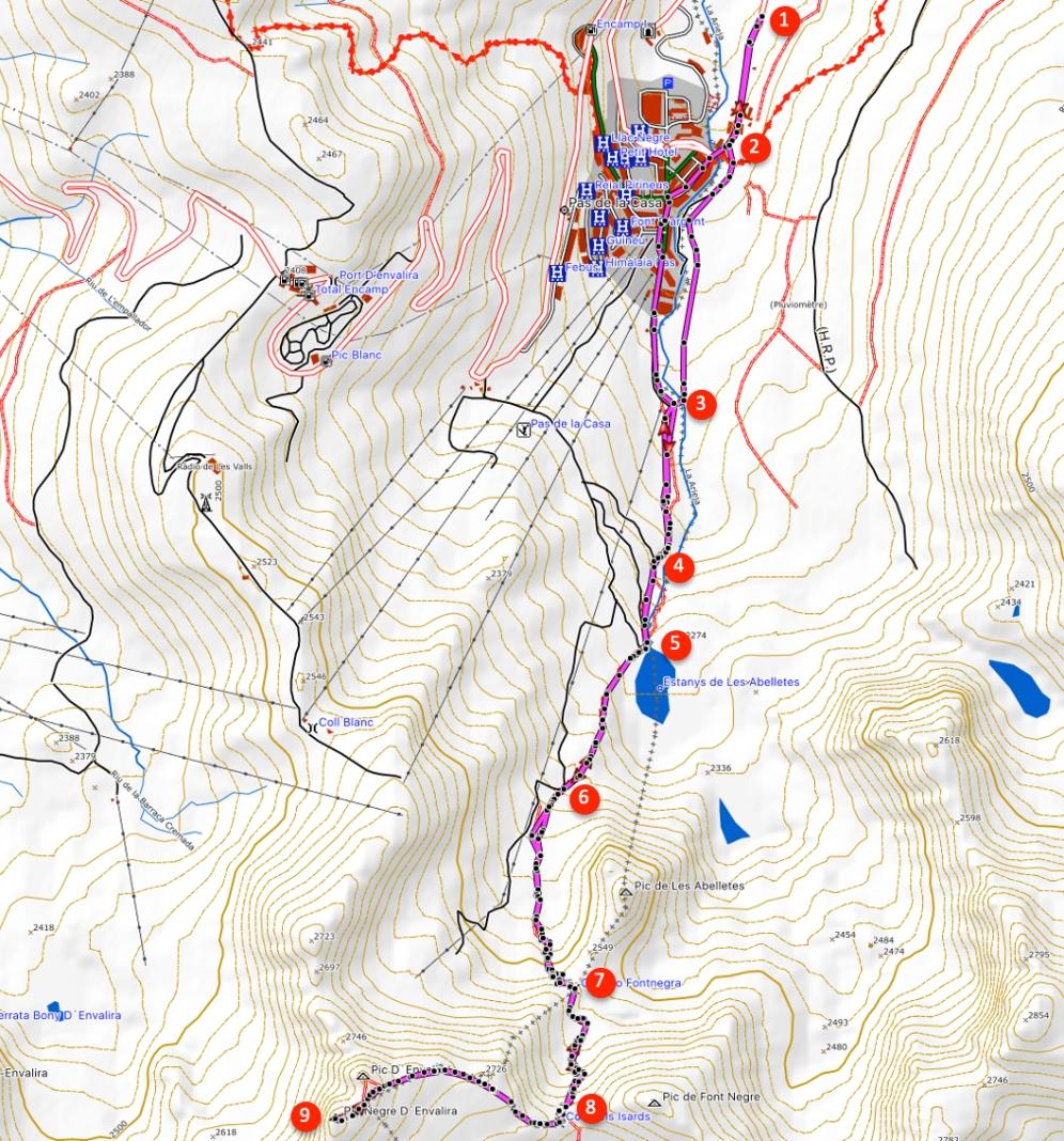Route Pic Negre d'Envalira