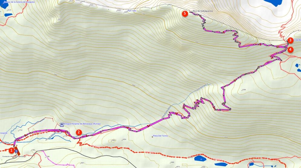 Ruta Pico de Salbaguardia