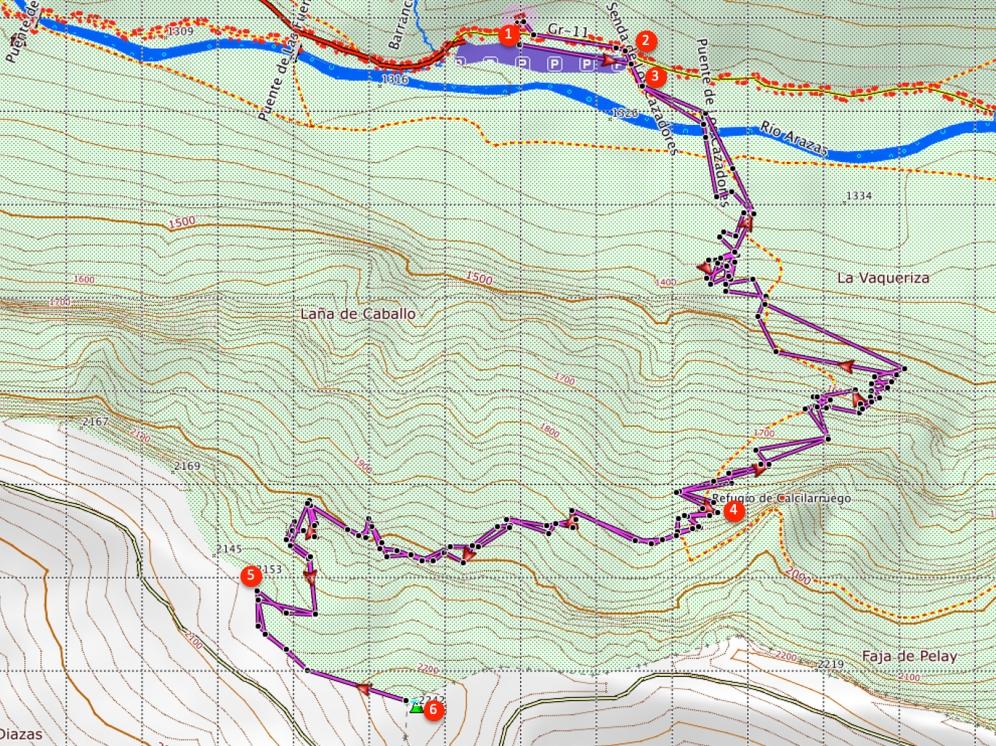 Route Punta Acuta