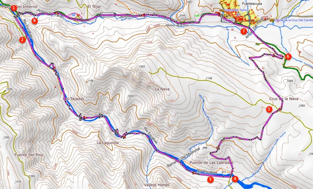 Route Rivier de Escabas