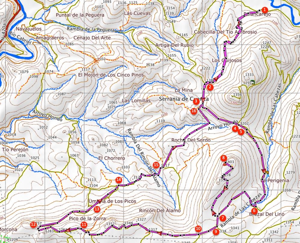 Route Sierra de las Cuerdas