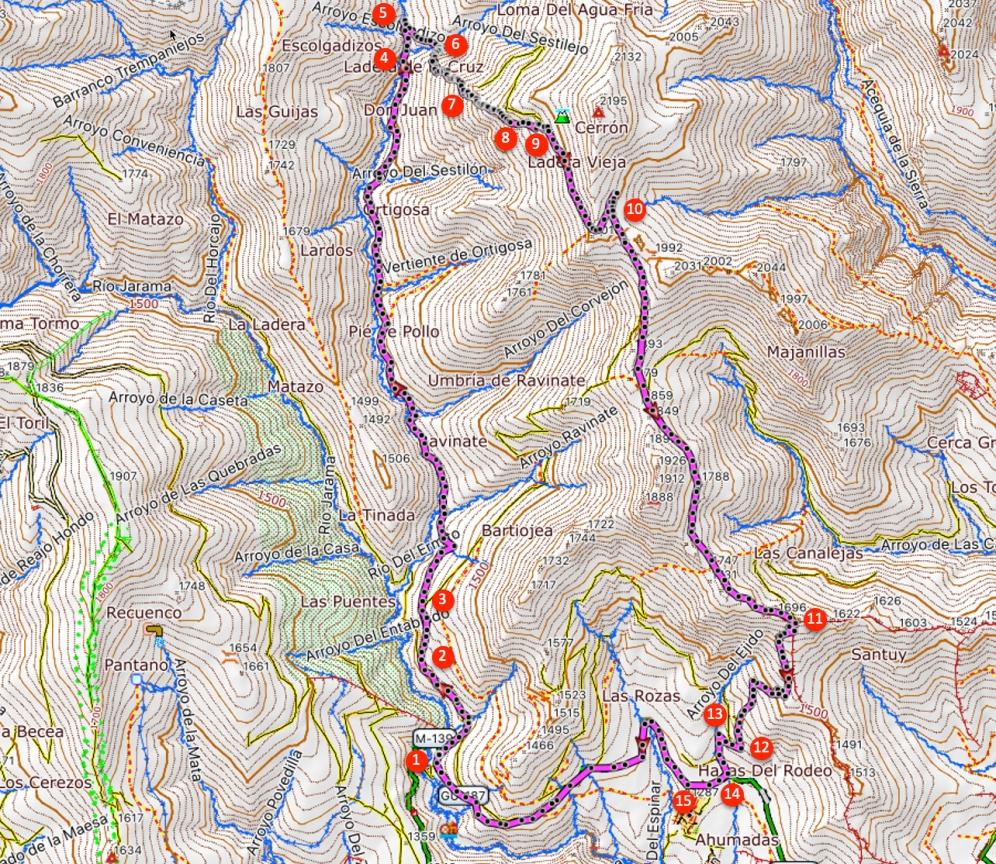 Route Collado de Ortigosa