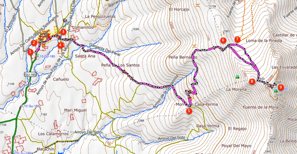 Route Ocejón