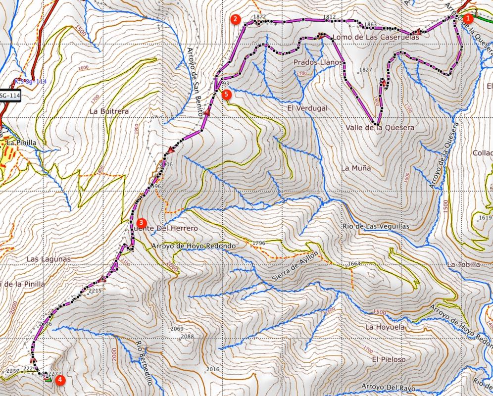 Route Pico del Lobo