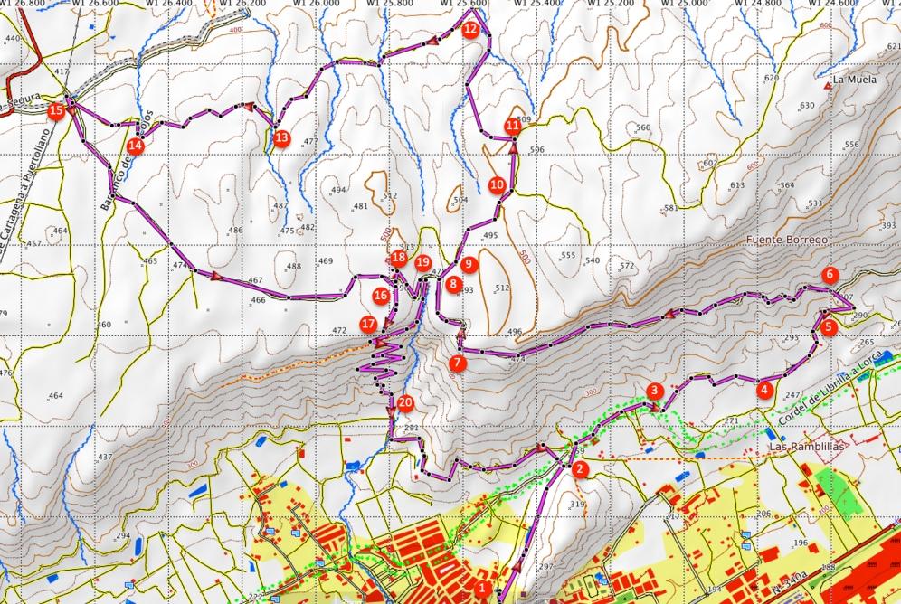 Route Sierra de la Muela