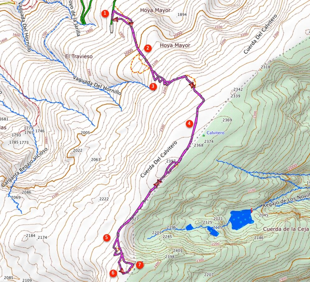 Route Canchal de la Ceja