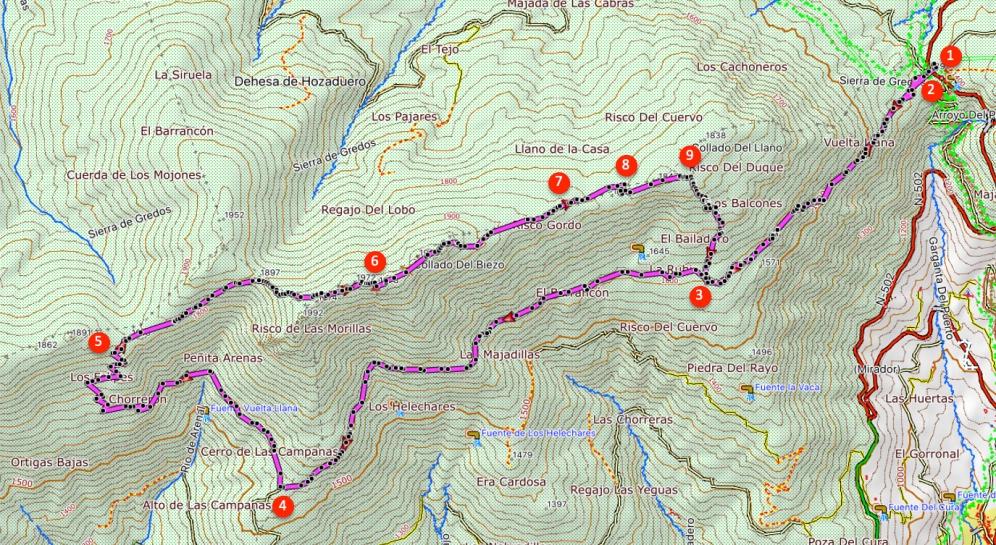 Route Pico la Fría