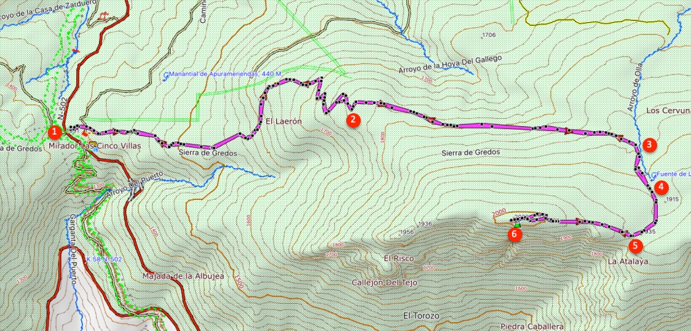Route Torozo