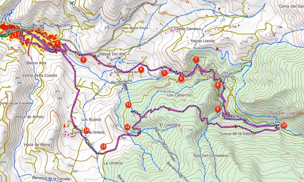 Route De Cahorros van Monachil