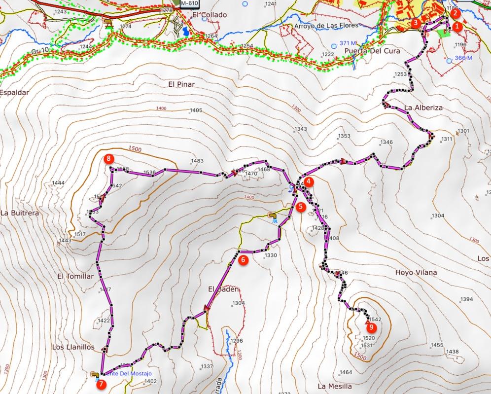 Route Cabeza Arcón and Pico Pendón