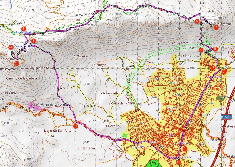 Route Sierra de la Cabrera