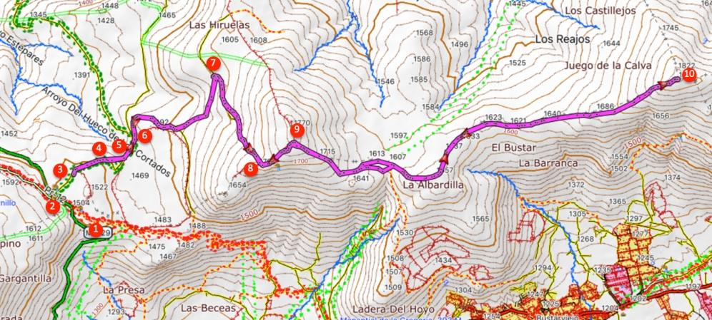 Route Mondalindo (hin und zurück)