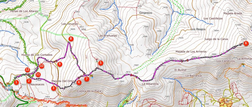 Route Mondalindo (kurze Strecke)