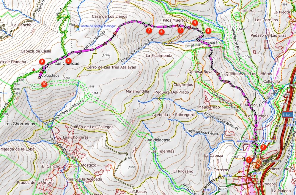 Route Pico Colgadizos