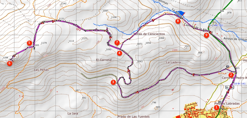 Route Rots van Cenicientos