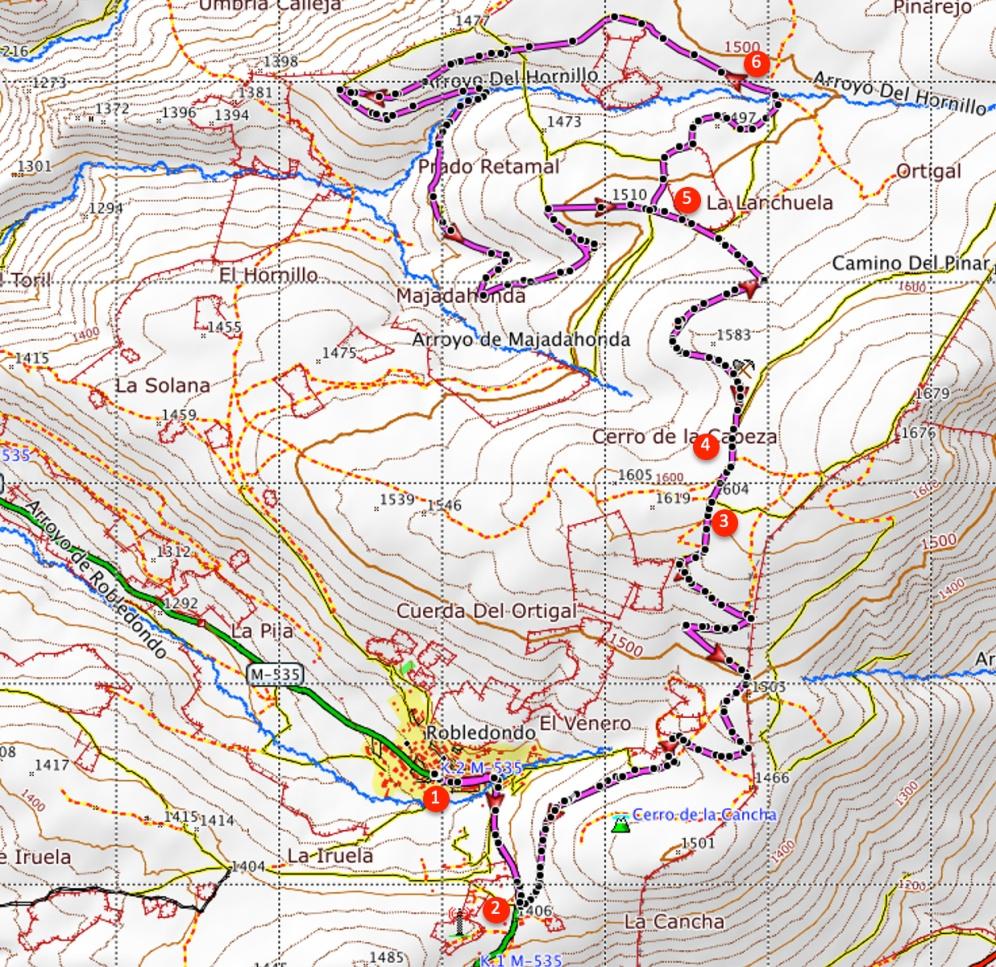 Route Pinarejo de Robledondo