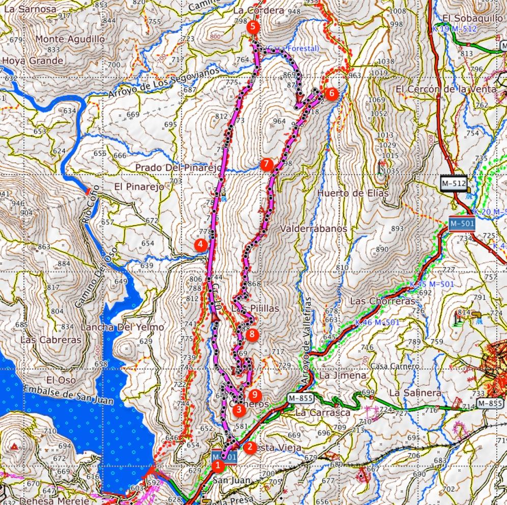 Route Pista del Infante