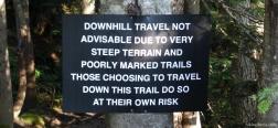 Schild am Anfang des BCMC Trails