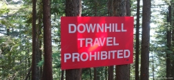 Sign at the end of the Grouse Grind