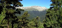 Uitzicht vanaf de vallei van Lozoya