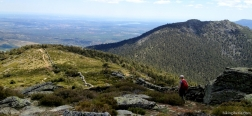 Afdaling vanaf de Cerro Peña del Águila