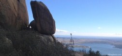 View over the Reservoir of la Santillana