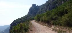 Pfad zum Kloster von Montserrat