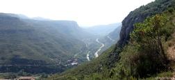 Aussicht auf dem Aufstieg zum Kloster von Montserrat