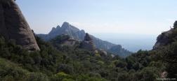 Aussicht auf dem Aufstieg nach Sant Jeroni