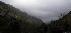 Nubes sobre el río Homem